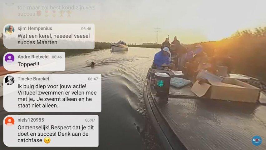 360 graden livestream van de Elfstedenzwemtocht voor NOS.
