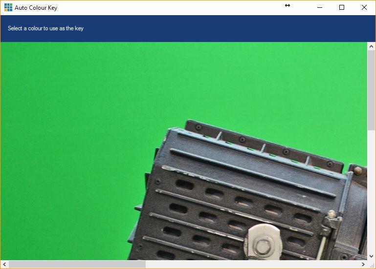 Kies de groene achtergrond om chroma key te gebruiken in vMix