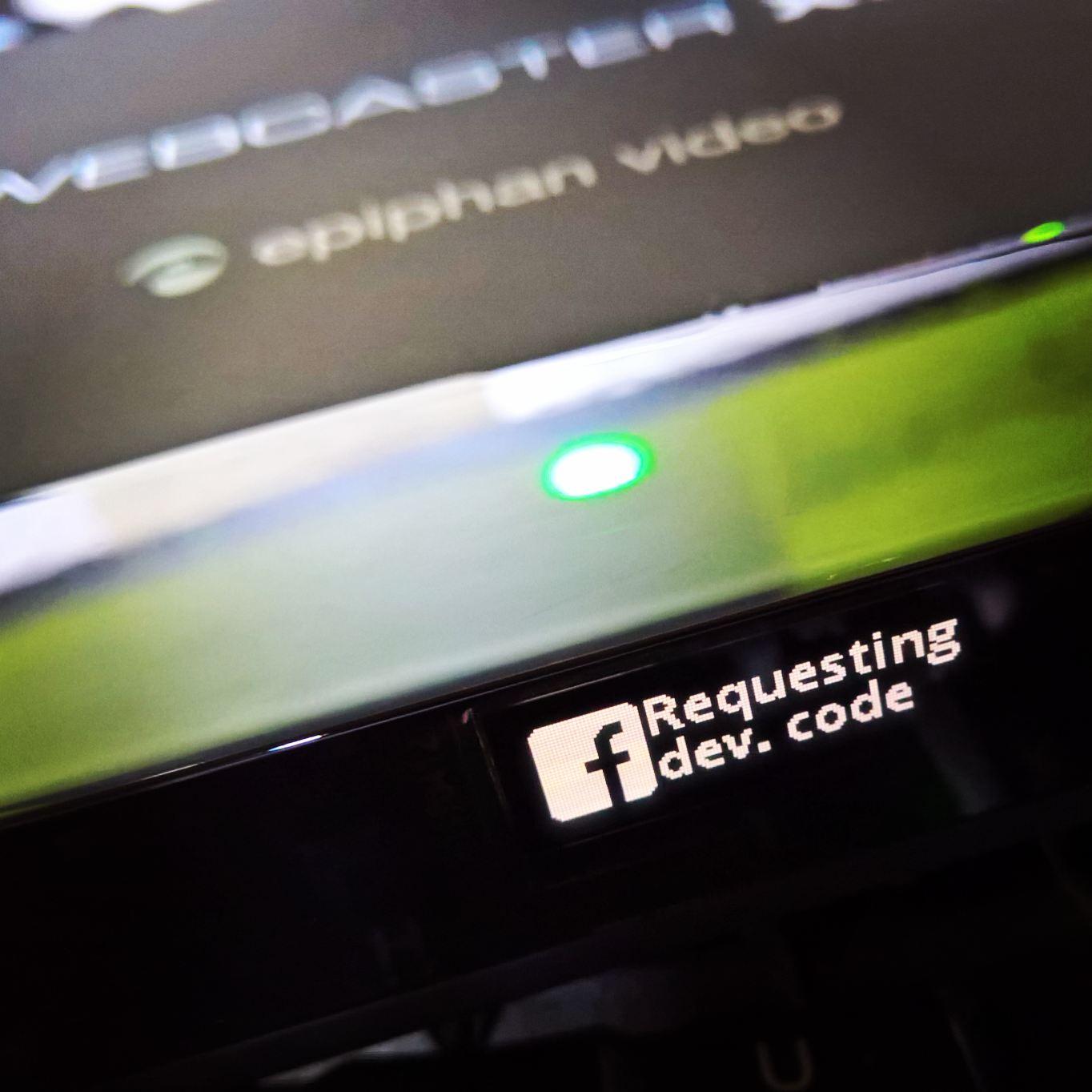 Het display van de Webcaster X2 geeft statusinformatie weer.