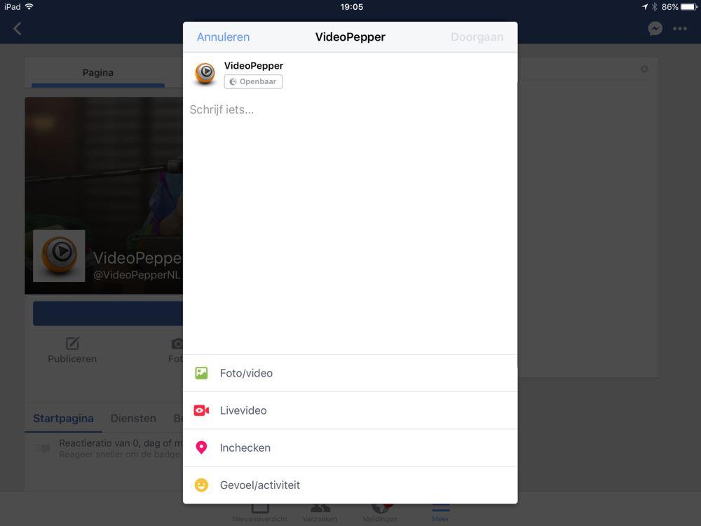 Facebook Live op je bedrijfspagina