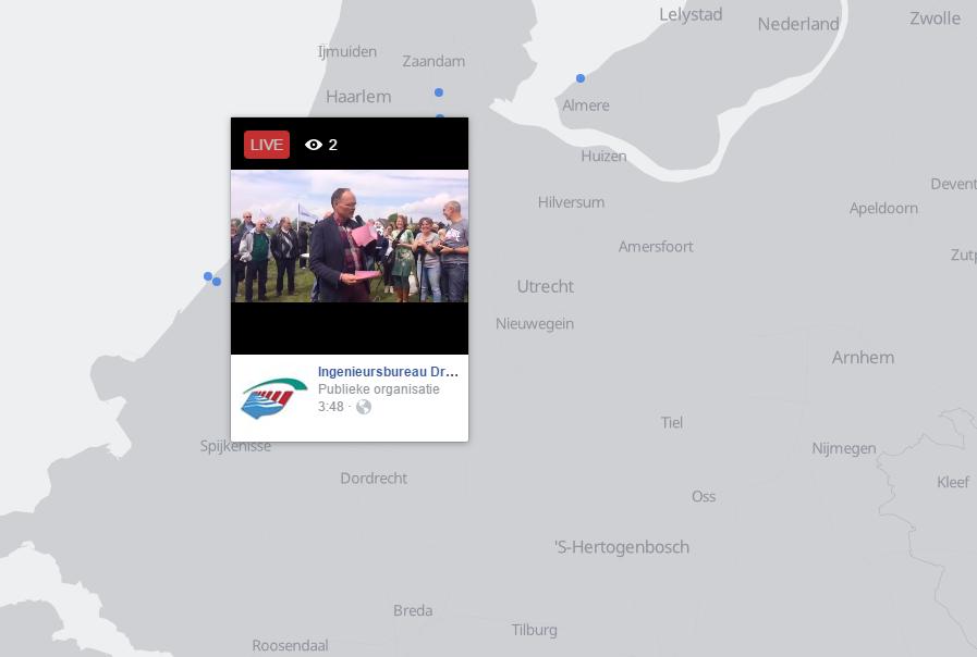 Streams zoeken met de Facebook Live Map