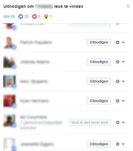 In Facebook direct een uitnodiging versturen naar mensen die je video hebben ge-liked.