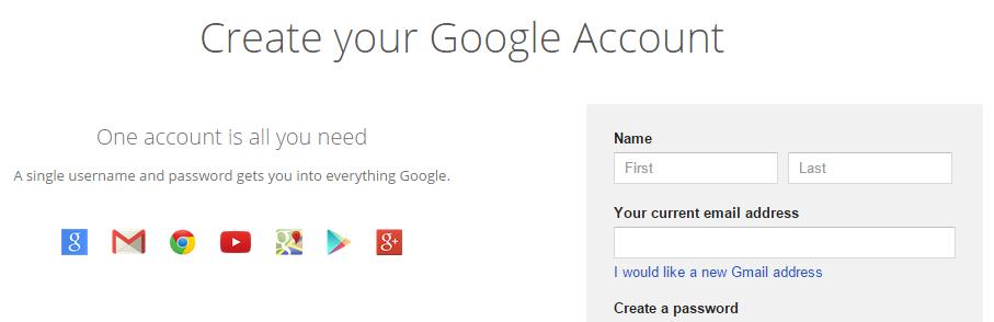 Maak een Google-account aan om een YouTube kanaal te beginnen