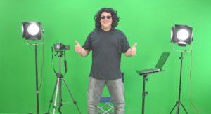 Green screen achtergrond voor video