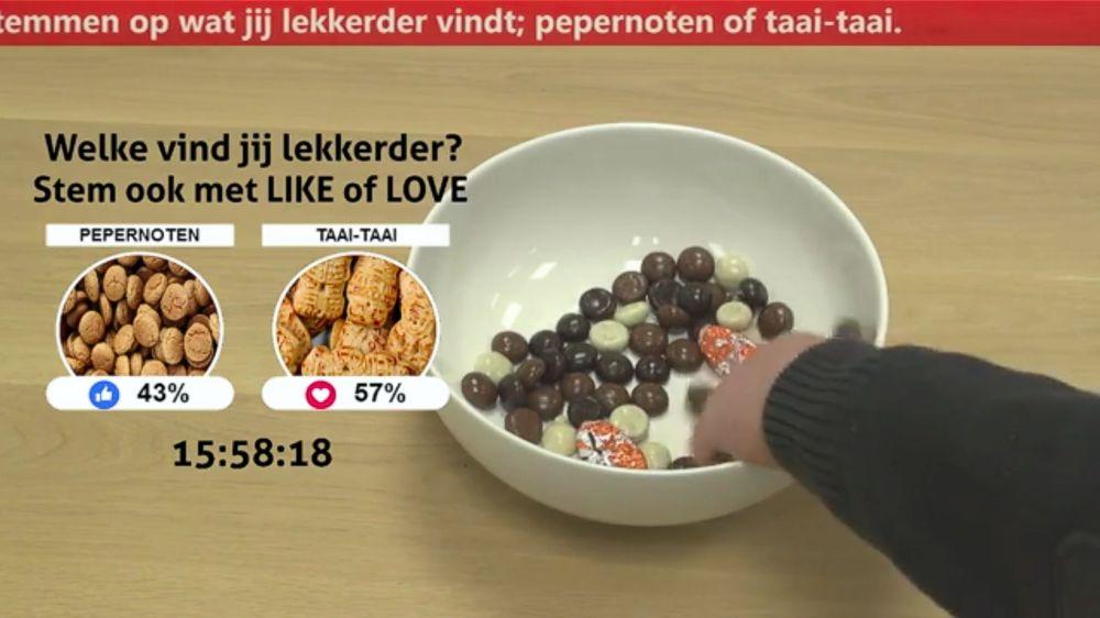Samengestelde livestream van bewegend beeld en de Facebook Live poll met vMix.