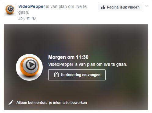 Live video inplannen in Facebook Live