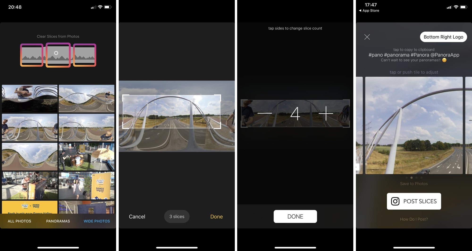Panora Instagram app voor het posten van 360 graden foto's.