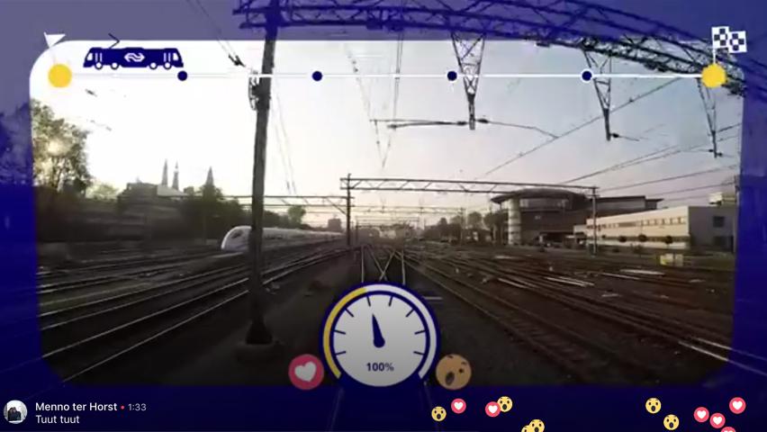 Social live video op Facebook Live voor Nederlandse Spoorwegen.