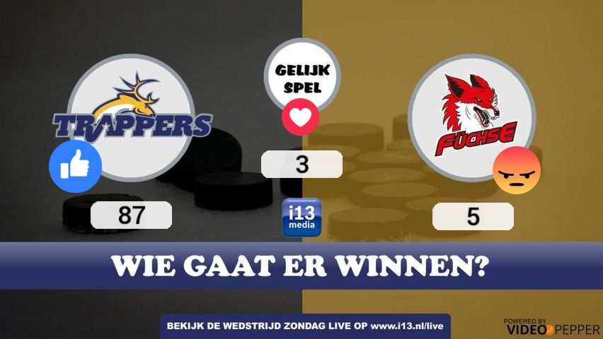 Social video op Facebook Live met live reacties in de video voor i13 Media / Tilburg Trappers.