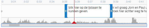 Van elke ondertitel kan de timing aangepast worden.
