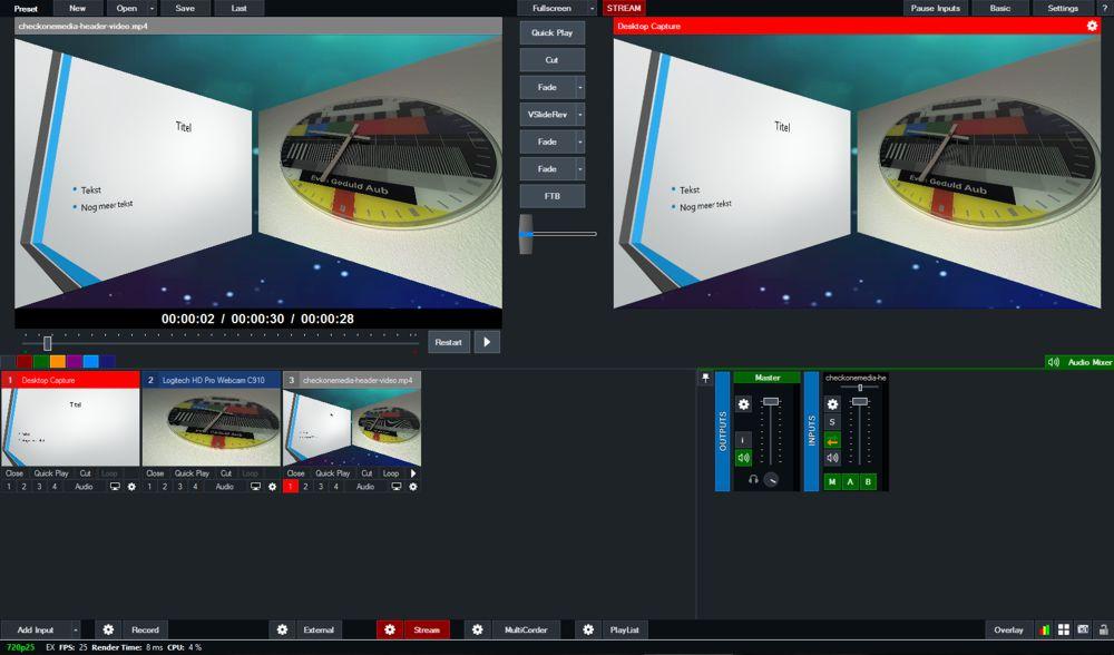 vMix live video mogelijkheden